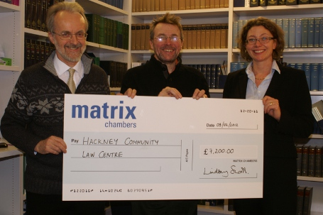 Matrix Chambers gives backing to Hackney Community Law Shops!