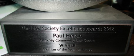 HCLC Solicitor Paul Heron wins Law Society Excellence Award!