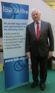 Lord Bach and Patron Jon Robins visit HCLC