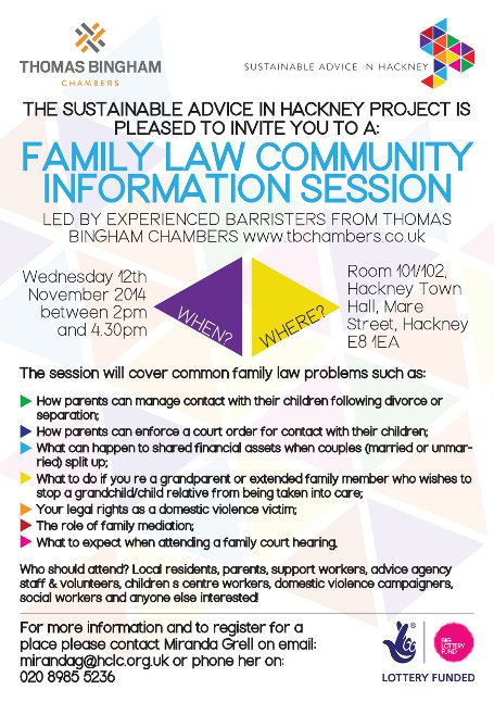 COMMUNITY TRAINING EVENT: 'Family Law Community Information Session'