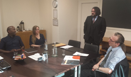 Patron Declan O'Callaghan trains HCLC team in Immigration & Asylum Law